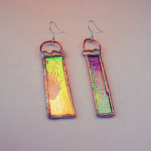Magenta Mirage Drop Dangles