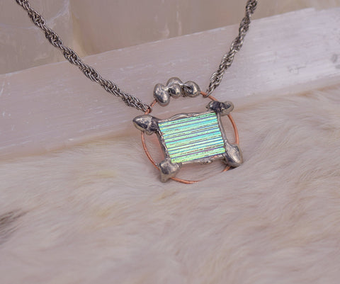 Cyan Orbit Window Pendant