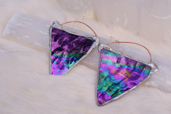 Iridescent Triangle Dangles