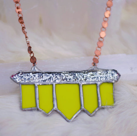 Chartreuse Deco Power Piece
