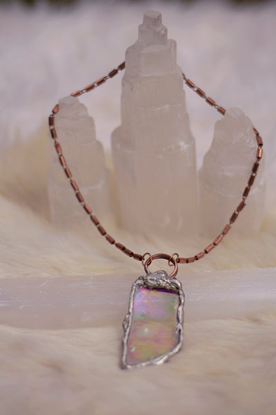 Crystalline Iridescent Window Pendant