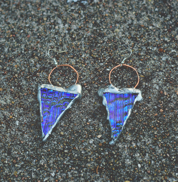 Purple Toothed Point Dangles
