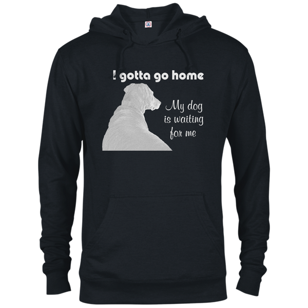 Gotta go home - dog waiting - French terry unisex hoodie sweatshirt