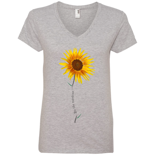 be the sunshine sunflower inspirational tee