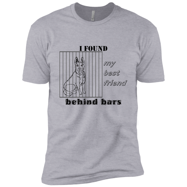 dog lover adopt friend behind bars novelty tee t-shirt