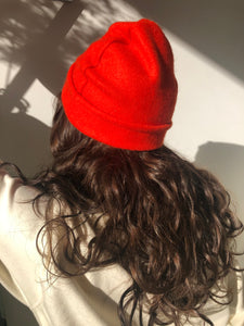 Bright Orange Wool Hat