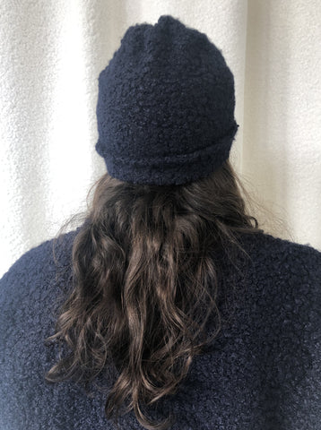 Navy Blue Wool Hat