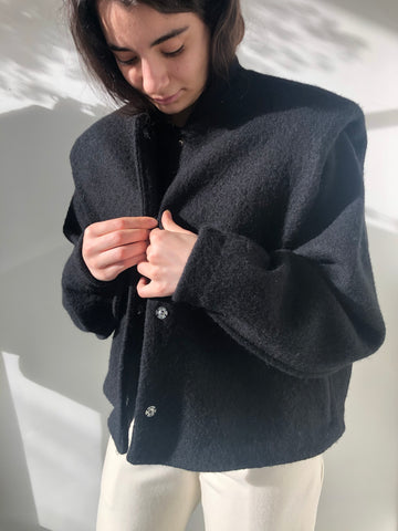 Black Daphne Coat