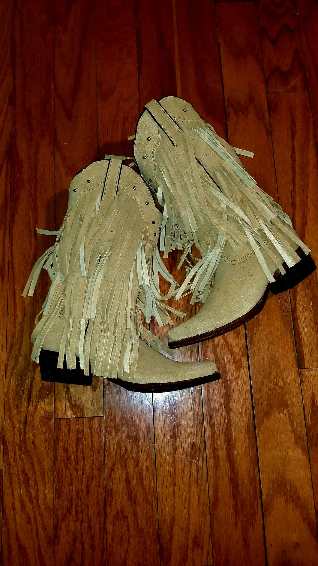 Buttercup fringe snip toe boots