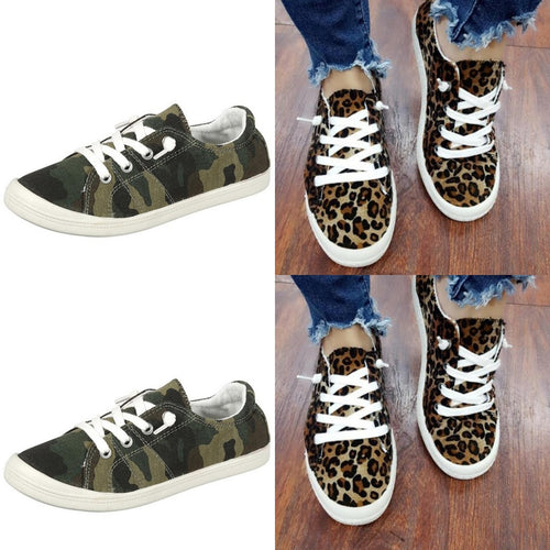 Leopard slide on sneakers