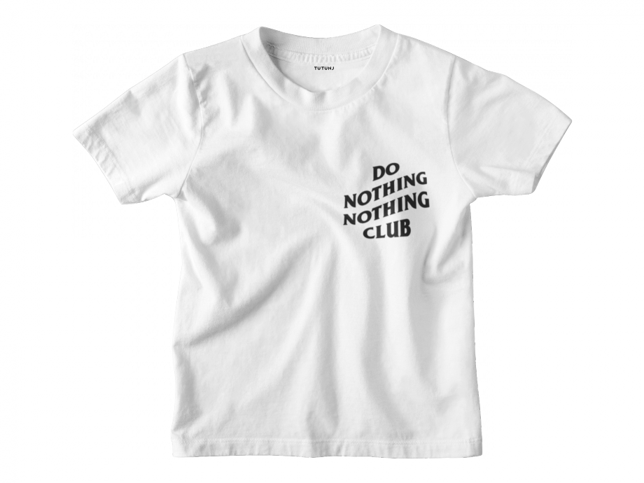 Do Nothing Club Kids Beyaz Tişört
