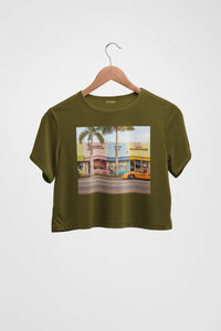 Miami Palms Crop Top