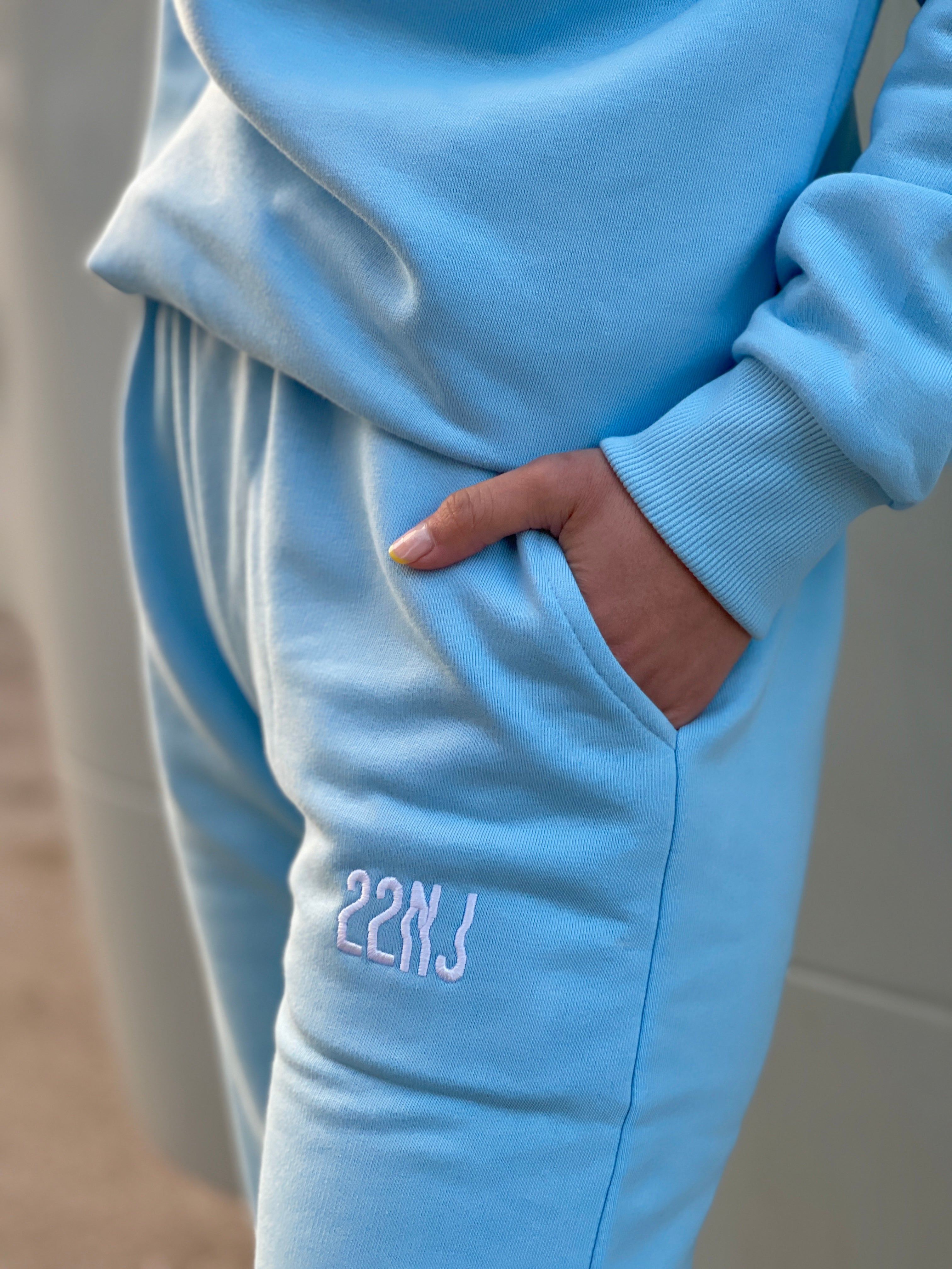 22NJ Sky Blue Unisex Eşofman