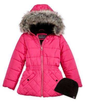 Protection System Bubble Jacket with Faux- Pink Glow
