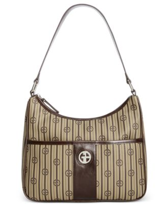Giani Bernini Stripe Signature Hobo Khaki - Desireez