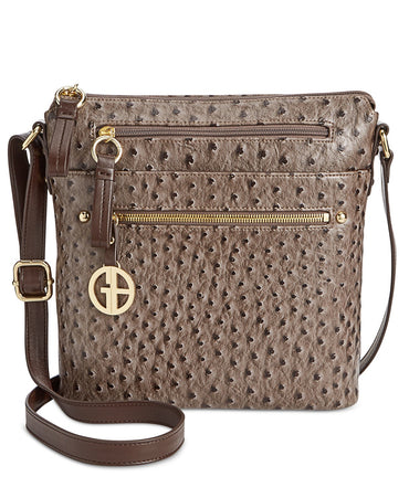 Giani Bernini North South Ostrich Crossbody - Desireez