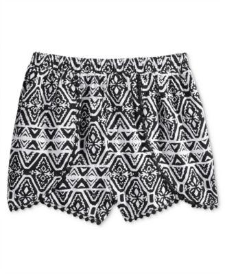 Epic Threads Printed Shorts Big Girls 7 Bright White - Desireez