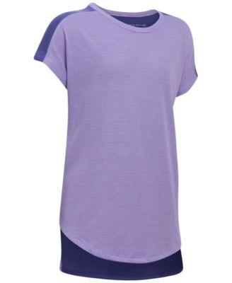 Under Armour Athletic T-Shirt Big Girls 7 Lavender