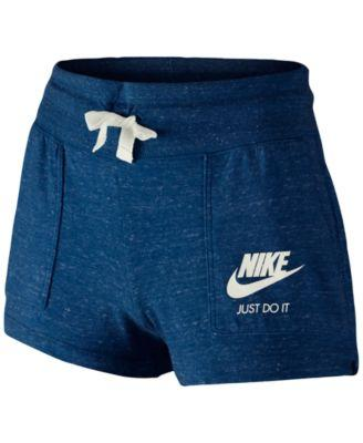 Nike Girls Gym Vintage Shorts Binary Blue - Desireez