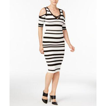 XOXO Juniors Striped Bodycon Dress Ivory M