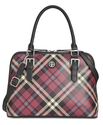 Giani Bernini Plaid Medium Dome Satchel - Desireez