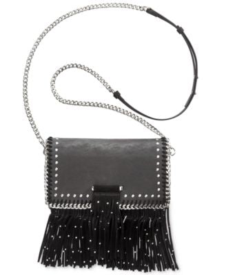 INC International Concepts Anna Fringe Embellished Small Black - Desireez