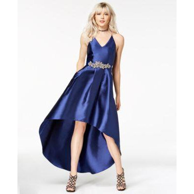 BCX Jeweled High-Low Gown Sapphire 3 - Desireez