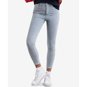 Levis Pinstriped Skinny Ankle Jeans Roll On Out - Desireez