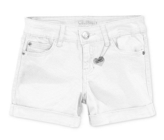 Celebrity Pink Girls Cuffed Colored Shorts White - Desireez