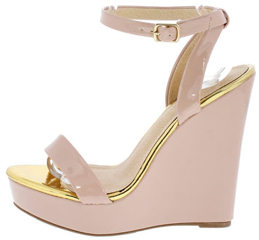 PATENT OPEN TOE PLATFORM WEDGE