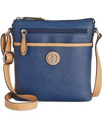 Giani Bernini Saffiano Crossbody Navy - Desireez