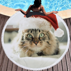 Holiday Cat Towel