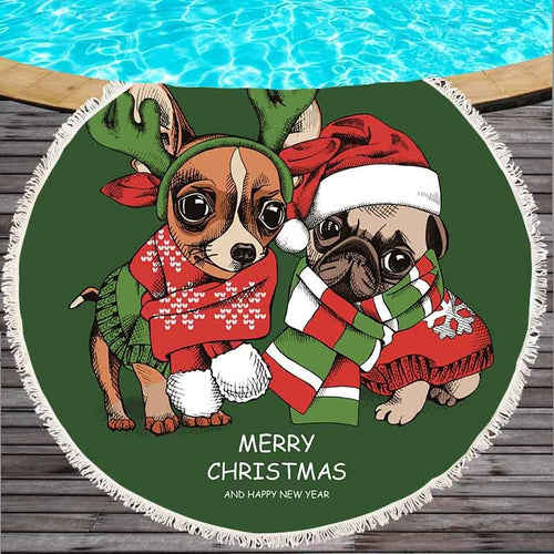 Holiday Pups Towel
