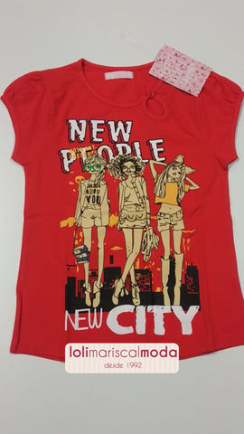 Camiseta niña New People - lolimariscalmoda