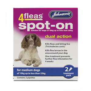 Flea drops medium dog 2 treatments - Creepy Critters