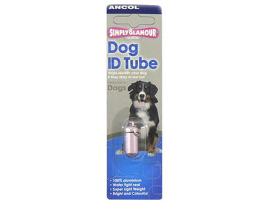 Ancol Aluminium ID Tube for Cats and Dogs