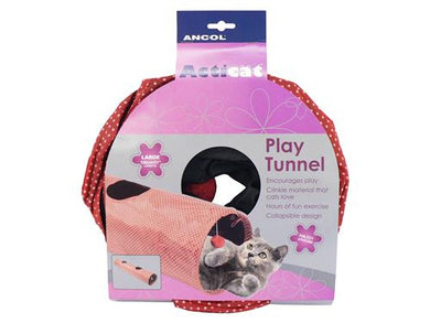 Ancol Collapsible Cat Play Tunnel 1.3m