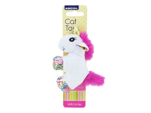 Ancol Unicorn Batter Cat Toy with Catnip Assorted 13cm