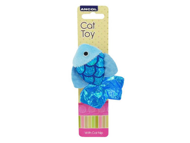 Ancol Glitter Fish Cat Toy Assorted 10cm