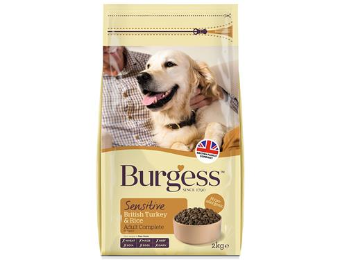Burgess Dog Sensitive Turkey & Rice 2kg