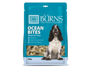 Burns Ocean Bites White Fish Treats for Dogs 100g