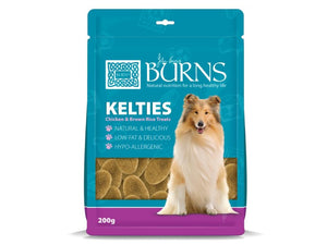Burns Kelties Chicken & Brown Rice Treats for Dogs 200g