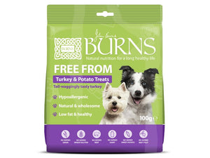 Burns Free Form Turkey & Potato Treats for Dogs 100g