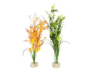 Cheeko Aqua-Dreamscapes Plastic Tall Leafy Plant Assorted 50cm