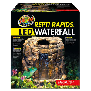 *ZM ReptiRap LED Waterfall Lrg Rock RR-25 - Creepy Critters