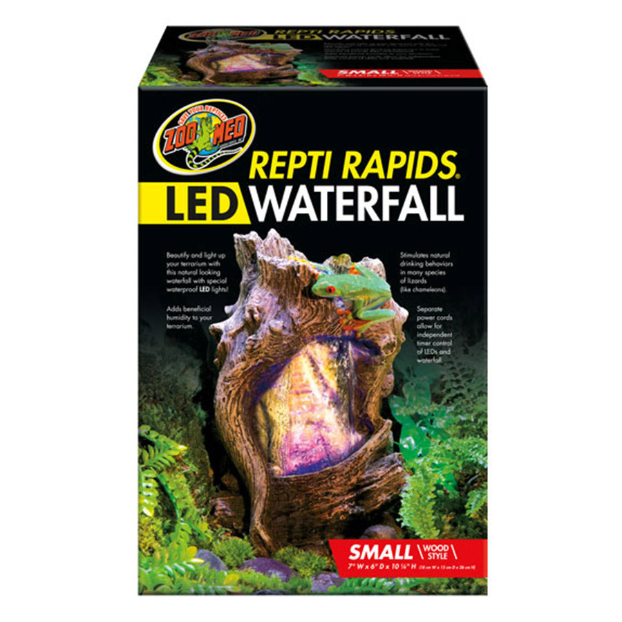*ZM ReptiRap.LED Waterfall Sml Wood RR-22 - Creepy Critters