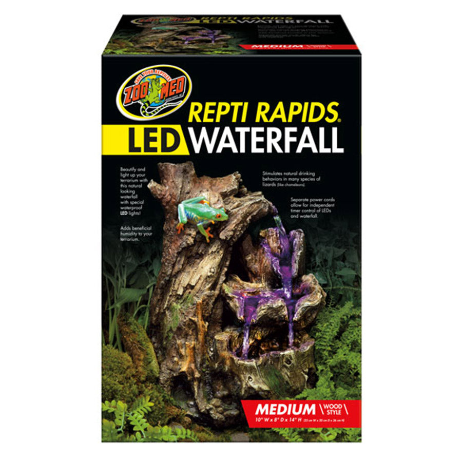 *ZM ReptiRap.LED Waterfall Med Wood RR-24 - Creepy Critters