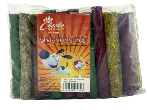 Cheeko Plaque Busters Munchie Roll Assorted 6