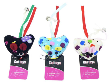 Cheeko Heart Mouse Cat Toy 6cm