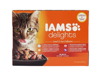 Iams Cat Delights Land & Sea Jelly 85g